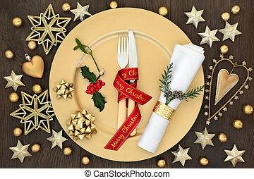 Christmas Dinner Festive Table Setting