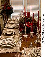 Christmas Dinner Place Settings