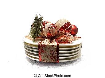 Christmas dinner table decoration
