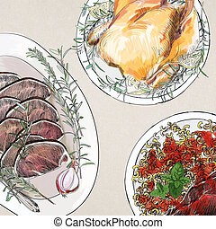 Christmas dinner wallpaper