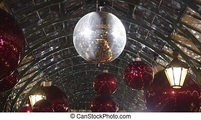 Christmas Disco Ball - Christmas Decoration With Disco Ball...