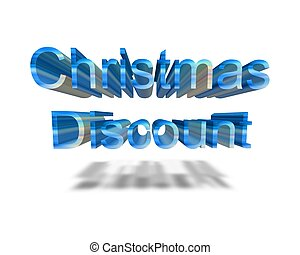 christmas discount 3d word