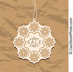Christmas discount label, vintage style - Illustration...