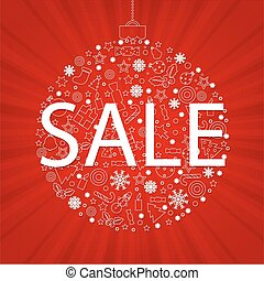 Christmas Discount Poster - Christmas Poster With Gradient...