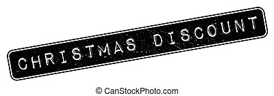Christmas Discount rubber stamp. Grunge design with dust...