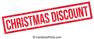 Christmas Discount rubber stamp