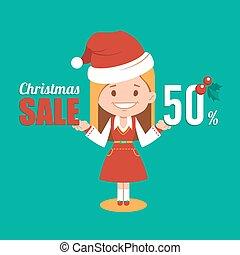 Christmas discount , sale holiday banner. - Christmas...