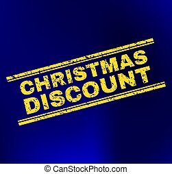 CHRISTMAS DISCOUNT Scratched Stamp Seal on Gradient Background