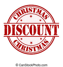 Christmas discount stamp