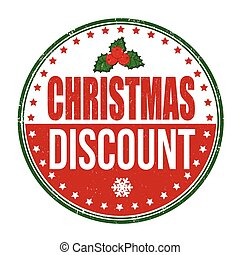 Christmas discount stamp - Christmas discount grunge rubber...