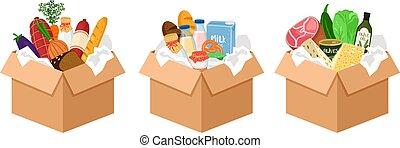 Christmas donations, food boxes