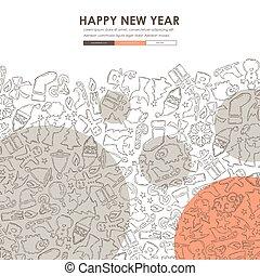 Christmas Doodle Website Template Design