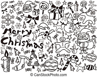 christmas doodles background