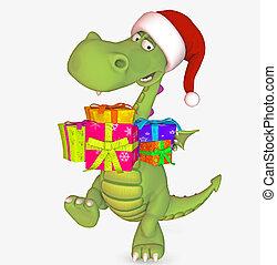 christmas dragon - 3d render
