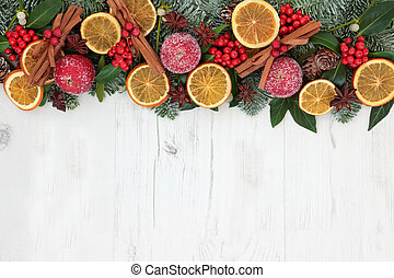 Christmas Dried Fruit Border