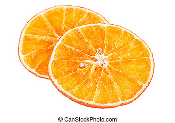 Christmas Dried Orange Slices Isoalted on White