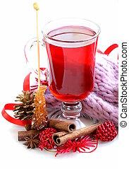 Christmas drink (mulled wine, tea)