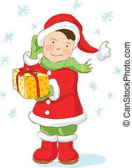 Christmas Dwarf holding present