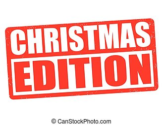 Christmas edition stamp - Christmas edition grunge rubber...