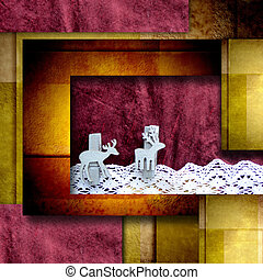 Christmas elegance postal card - geometric christmas...
