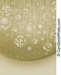 Christmas elegant beige background. EPS 8