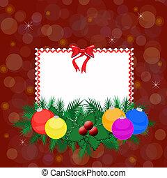 Christmas elegant card