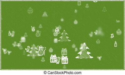 Christmas Elements Background - Green.