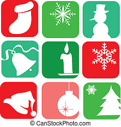 christmas elements. christmas card template design-2