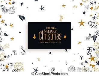 christmas elements decoration on white background