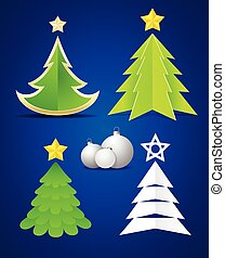 Christmas elements on blue background