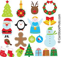 Christmas elements set