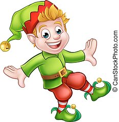 Christmas Elf Cartoon Character