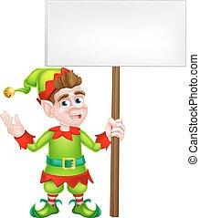 Christmas Elf Sign