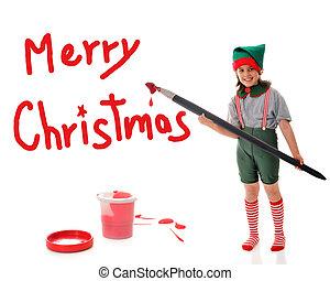 Christmas Elf Sign Painter
