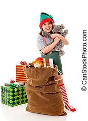 Christmas Elf with a Hug