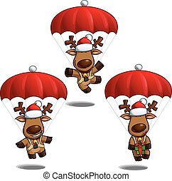 Christmas Elks Parachute
