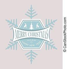 Christmas emblem as a snowflake