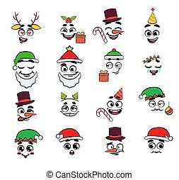 Christmas emoji set