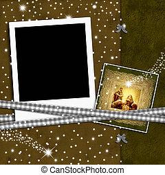 Christmas empty photo frame
