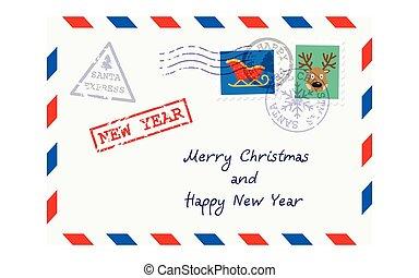 Christmas envelope for letter to Santa Claus