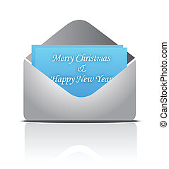 Christmas envelope with greeting card