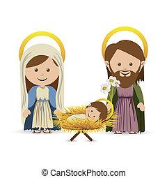 christmas - christmas design over white background vector...