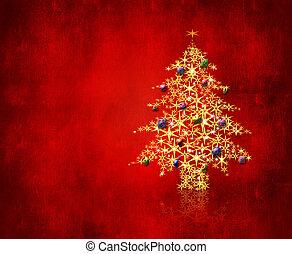 Christmas eve - An image of a christmas tree made of stars ...