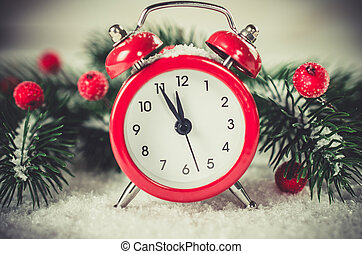 Christmas Eve and New Years clock