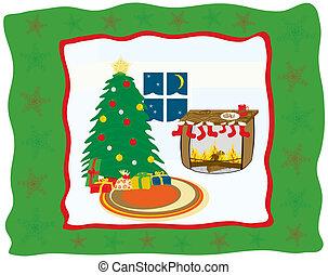 Christmas eve - Illustration - Christmas eve