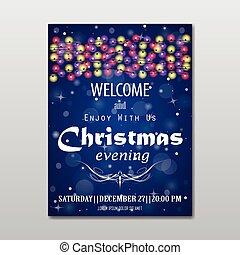 Christmas evening poster