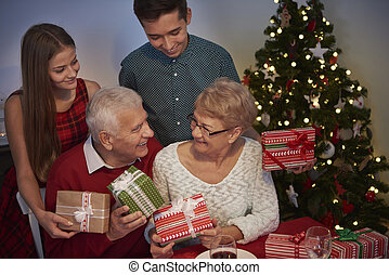 Christmas evening with our grandparents