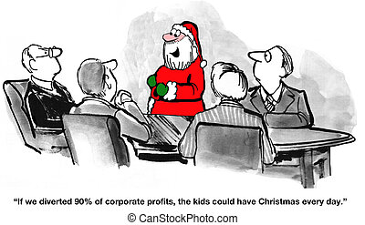 Christmas Every Day - Business cartoon about having...