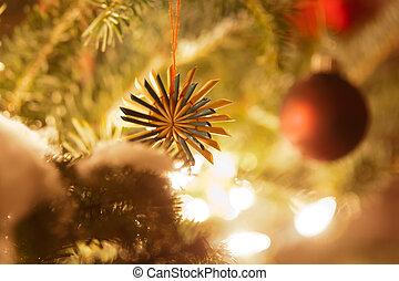 christmas fa díszít