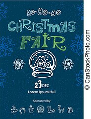 Christmas fair poster design template